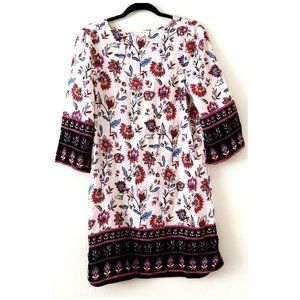 NEW Beach Lunch Lounge Boho Floral 3/4 Sleeve